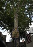 Betsy Ross Signboard från Philadelphia i Pennsylvania USA royaltyfri foto