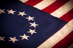 Betsy Ross - una bandiera americana delle 13 stelle Fotografie Stock Libere da Diritti