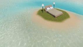 Bett auf der Insel Lizenzfreies Stockfoto
