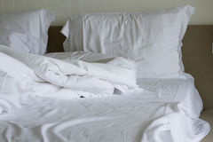 Bett benutzt Lizenzfreies Stockfoto