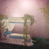 Bett der Rosen lizenzfreie abbildung