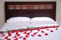 Bett Der Rosen Stockfoto