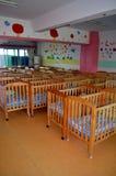 Bett in einem Waisenhaus Stockfotos