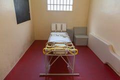 Bett für das Zurückhalten von psychiatrischen patiens Lizenzfreies Stockbild