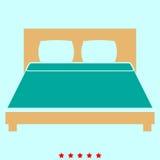 Bett ist es Ikone Lizenzfreie Stockbilder