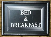 Bett - und - Frühstück Lizenzfreies Stockbild