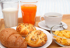 Bett - und - Frühstück stockfotos