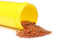 Betta pellets fish food for aquarium Royalty Free Stock Image