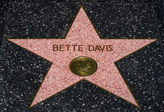 Bette Davis Star op de Hollwyood-Gang van Bekendheid Stock Afbeeldingen