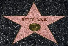 Bette Davis Star på Hollwyooden går av berömmelse Arkivbilder