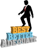 Better business man best self improvement Royalty Free Stock Photography