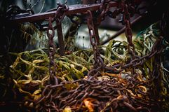 Better Days. Piled fishing nets that have seen better days Stock Images