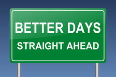 Better days straight ahead Stock Photography