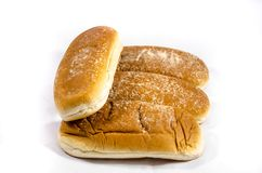 Better deluxe big hot dog huns. Bread is a staple food prepared from a dough of flour and water, usually by baking. Throughout recorded history it has been Royalty Free Stock Photos