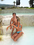 Better health in Pamukkale, Turkey. royalty free stock photo