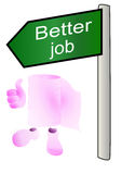 Better job Stock Image