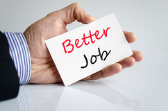 Better job text concept. Isolated over white background royalty free stock photo