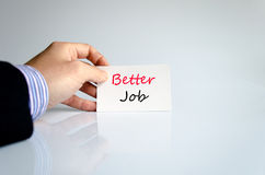 Better job text concept. Isolated over white background royalty free stock photography