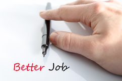 Better job text concept. Isolated over white background stock image