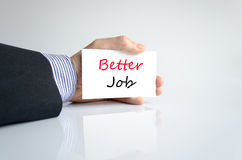 Better job text concept. Isolated over white background stock photography