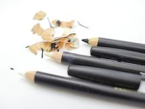 Better keep your pencils sharp. It`s very useful to keep your stuff clean and prepare to work. Sharpening your pencils must be the one of your routine Stock Images