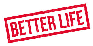Better Life rubber stamp. Grunge design with dust scratches. Effects can be easily removed for a clean, crisp look. Color is easily changed royalty free stock image