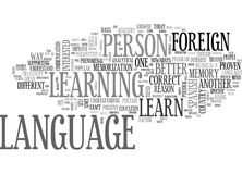 A Better Reason To Learn Foreign Language Word Cloud Stock Photo