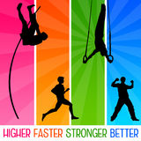 Better results. Getting better results in sports, life and career Royalty Free Stock Images