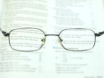 Better to read with the glasses Royalty Free Stock Images