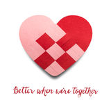 Better when we are together. Royalty Free Stock Photo