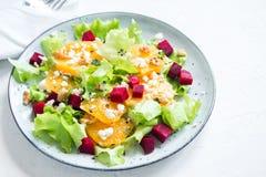 Betterave et salade d'oranges Image libre de droits