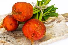 Betteraves oranges crues fraîches, betterave Images libres de droits