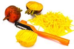 Betteraves oranges crues fraîches, betterave Images stock