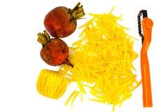 Betteraves oranges crues fraîches, betterave Image libre de droits