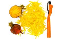 Betteraves oranges crues fraîches, betterave Image stock