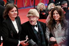 Bettina Bernhard, Artur Brauner and Alice Brauner at Berlinale 2018 Stock Images