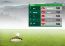 Betting App Interface Golf. Digital composite of Betting App Interface Golf royalty free stock photography