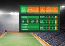 Betting App Interface stadium Stock Photo