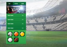 Betting App Interface stadium. Digital composite of Betting App Interface stadium Royalty Free Stock Images