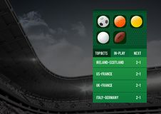 Betting App Interface stadium Stock Photo