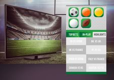 Betting App Interface television Stock Image