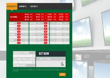 Betting App Interface televisions Stock Image