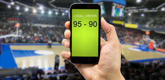 Betting on basketball arena Stock Photography