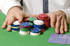 Betting on casino Royalty Free Stock Photos