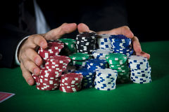 Betting on the casino Stock Image
