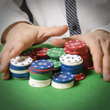 Betting chips Royalty Free Stock Photography