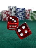 Betting with dices Royalty Free Stock Photography