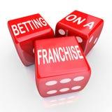 Betting Franchise Start New Business License Established Chain B royalty free illustration