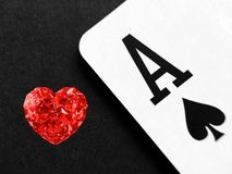 Betting Red Ruby Diamond royalty free stock images