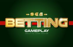 Betting word text logo banner postcard design typography Royalty Free Stock Image